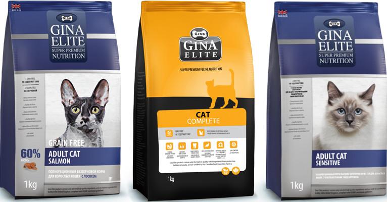 Корм для кошек Gina Elite - отзывы