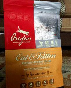 Отзыв о корме Orijen для кошек