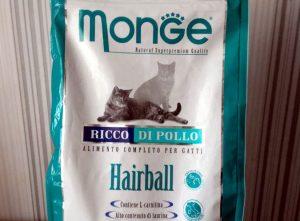 Отзыв о сухом корме Monge для кошек