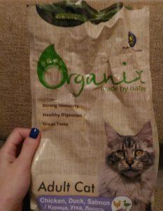 Отзывы о корме Organix для кошек