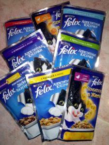 Отзывы о влажном корме для кошек Феликс