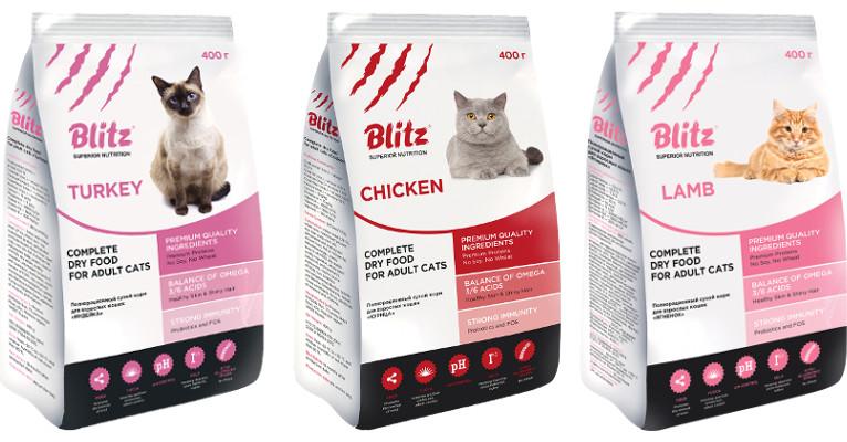 Корм для кошек Blitz - отзывы