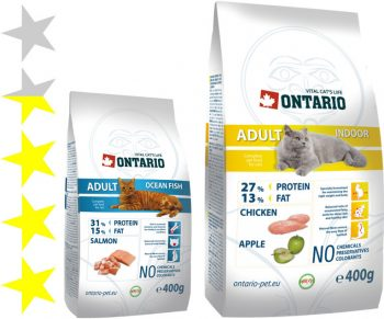 Корм для кошек Ontario