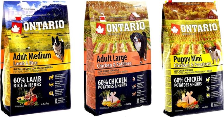 Обзор корма для собак Ontario - отзывы