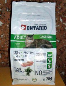 Отзыв о сухом корме для кошек Онтарио