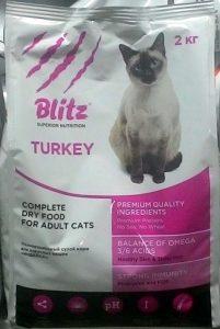 Отзывы о корм для кошек Blitz с индейкой