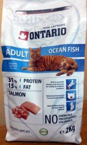 Отзывы о корме для кошек Ontario