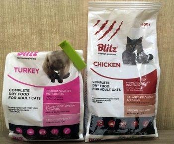 Отзывы о сухом корме для кошек Blitz