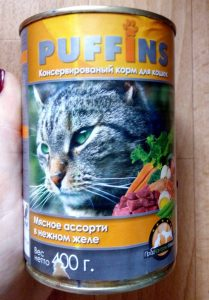 Консервы для кошек Пуффинс