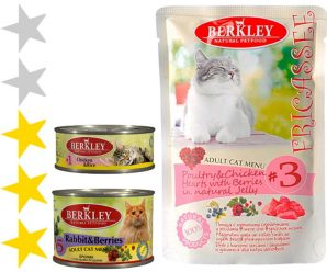 Корм для кошек Berkley: отзывы, разбор состава, цена