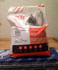 Отзыв о корме для собак Blitz
