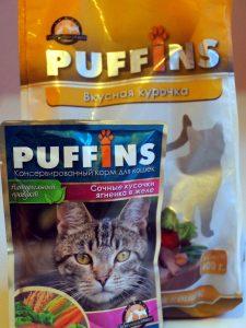 Отзывы о корме Puffins для кошек