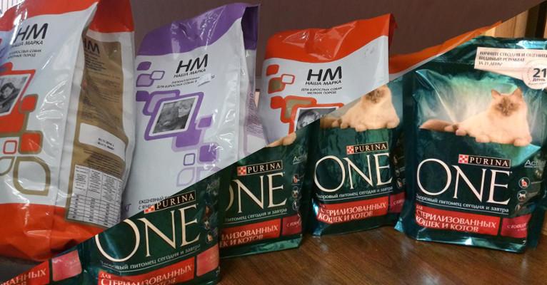 Сухие корма эконом класса для кошек