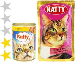 Корм для кошек Katty: отзывы, разбор состава, цена