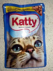 Отзывы о корме для кошек Katty