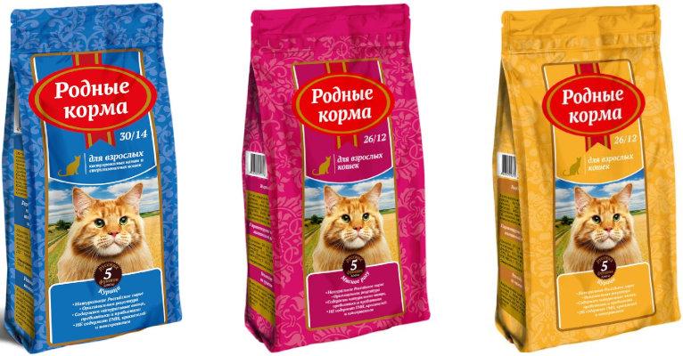 Корм для кошек «Родные корма» - отзывы