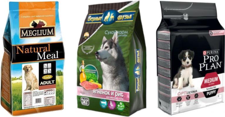 Корма премиум класса для собак - список производителей