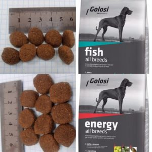 Гранулы корма для собак Golosi