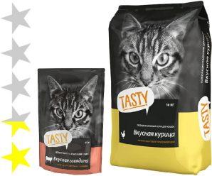 Корм для кошек Tasty: отзывы, разбор состава, цена