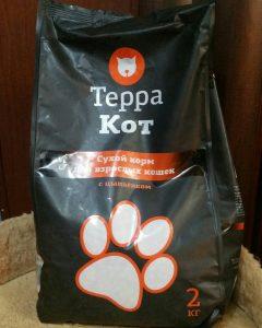 Отзыв о корме ТерраКот для котов