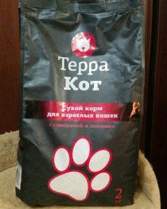 Отзыв о сухом корме ТерраКот для котов