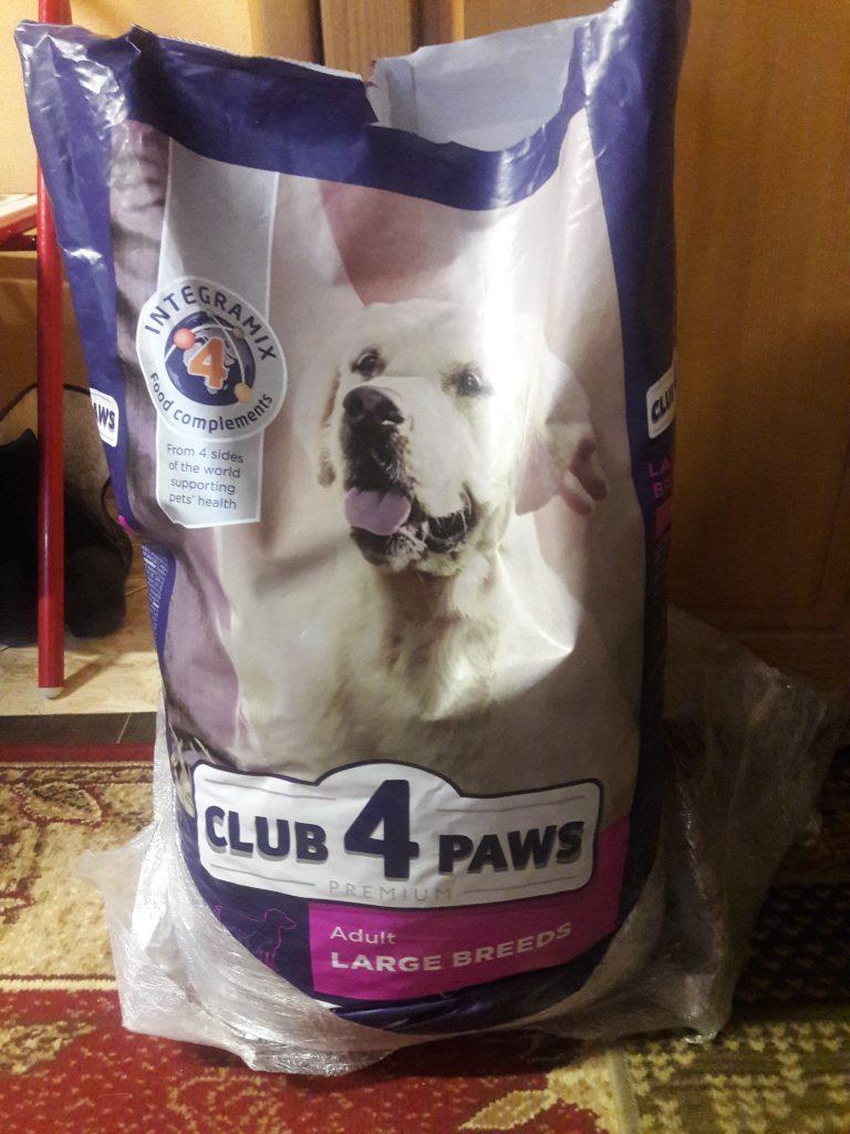 Отзывы о корме Клуб 4 Лапы для крупных пород собак